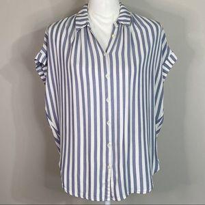 Madewell Cap Sleeve Striped Shirt